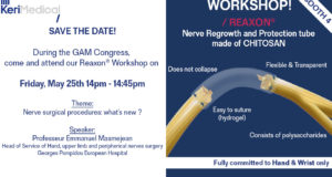 Workshop GAM congress kerimedical orthopaedics hand nerve regrowth protection surgery geneva