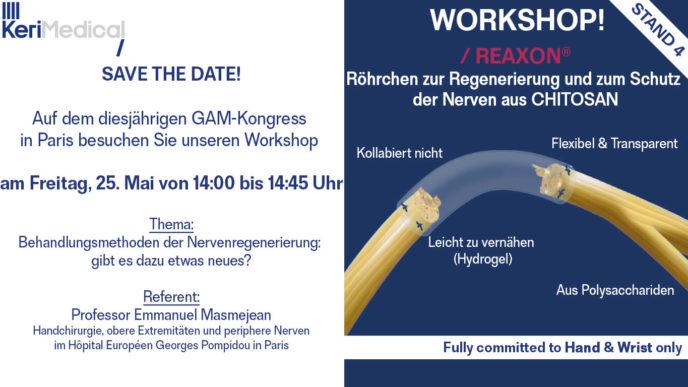 Workshop GAM kongress regenerierung schutz nerven chitosan reaxon nervenregenerierung