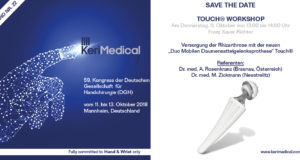 Save the date kerimedical dgh kongress deutschland daumensattelgelenksprothese touch duo mobilen